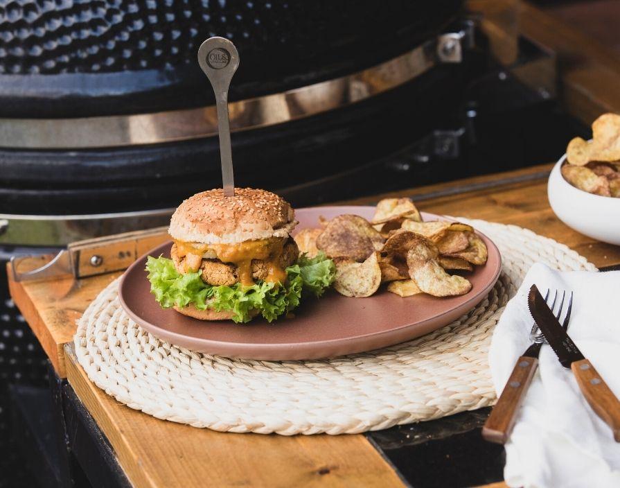 Pikanter Veggie-Burger
